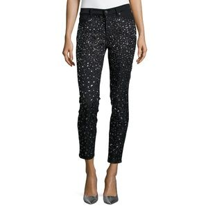 7 for all mankind Ombre-Crystal Skinny Jeans Black